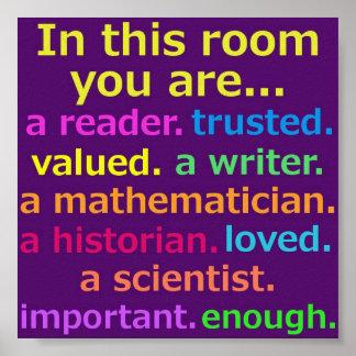 Classroom Inspirational Poster