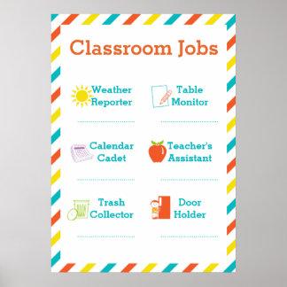 Classroom Jobs Poster - Owls
