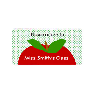 Classroom Label Please Return - apples