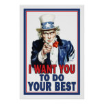 Classroom Poster: I Want You to DO YOUR BEST Poster