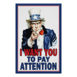 Classroom Poster: PAY ATTENTION Poster