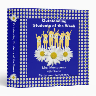 Classroom Recognition 1.5 inch Binder - Daisies