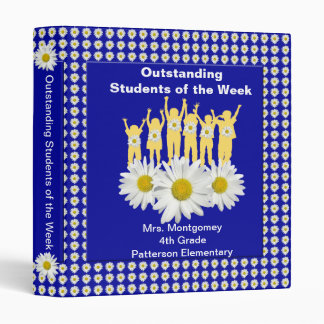 Classroom Recognition 1 inch Binder - Daisies