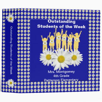 Classroom Recognition 2 inch Binder - Daisies