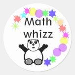 Classroom reward  - math - circle sticker