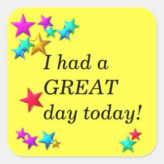 Classroom reward sticker  - I had a great day