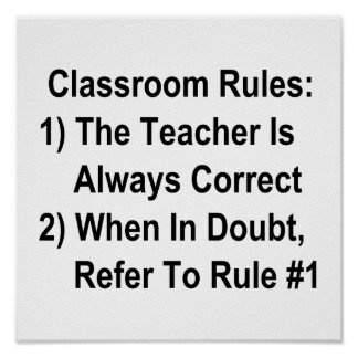 Classroom Rules (all black text) Poster
