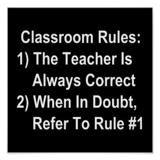 Classroom Rules (all white text) Poster