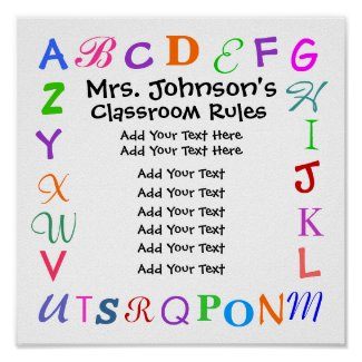 Classroom Rules by SRF print
