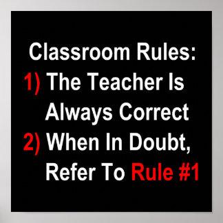 Classroom Rules (dark) Print