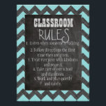"""Classroom Rules Poster<br><div class=""""desc"""">This poster would be a great addition to your classroom. It is easy to read and adds color to your walls.</div>"""