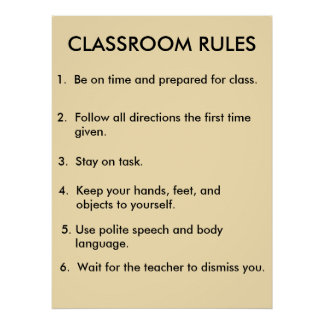 Classroom Rules Poster 2.0