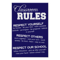 Classroom Rules Poster Posters