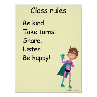 Classroom Rules Poster / sign