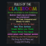 """Classroom Rules, Teacher Gift, Educational Gift Poster<br><div class=""""desc"""">Great gift for that special teacher,  or to put up in your own classroom.</div>"""