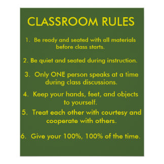 Classroom Rules v. 2015 Poster