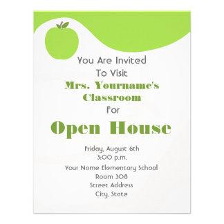 Classroom / School Open House- Green Apple Personalized Invitation