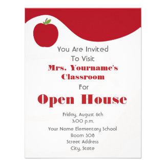 Classroom / School Open House- Red Apple Invites