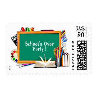 Classroom Supplies Chalkboard End of School Party Postage