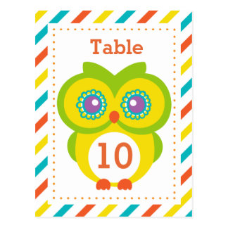 Classroom Table Number Card Postcard