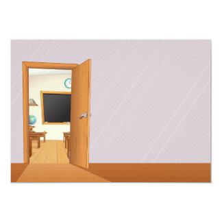 Classroom Through An Open Door Invitations