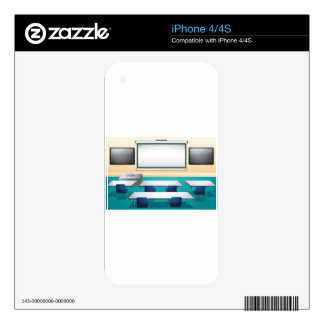 Classroom with screens and tables decal for the iPhone 4S