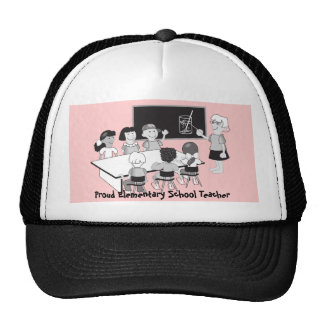 Classroom with teacher & students trucker hat