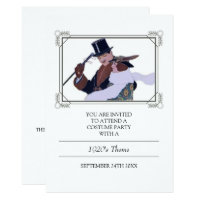 Classy 1920's Theme Costume Party Invitation