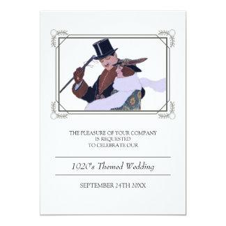 Classy 1920's Theme Wedding Invitation