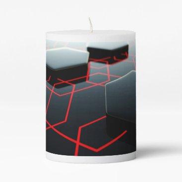 Professional Business Classy 3D Hexagons Pillar Candle
