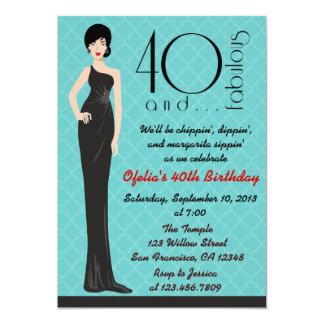 Classy 40th Birthday Invitation