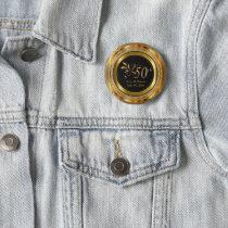 Classy 50th Golden Wedding Anniversary Pinback Button