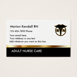 Classy Adult Nurse Care Business Card
