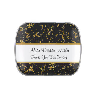 Classy After Dinner Party Favor Mints Jelly Belly Candy Tin