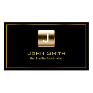Classy Air Traffic Controller Dark Business Card