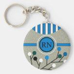 Classy and Artsy Registered Nurse Designs Key Chain