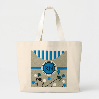 Classy and Artsy Registered Nurse Designs Large Tote Bag