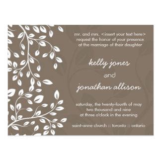 Classy and Elegant Wedding Invitation Postcard