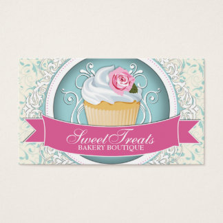 Classy and Modern Cupcake Business Cards