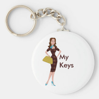 Classy and Snazzy Business Woman Keychain