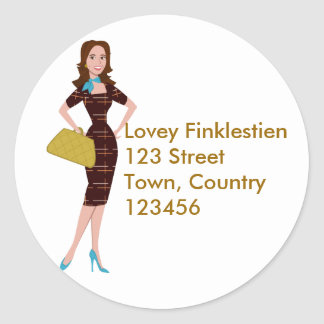 Classy and Snazzy Business Woman Classic Round Sticker