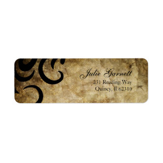 Classy and Sophisticated Swirl Fluer Label