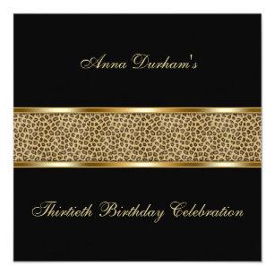 Classy Animal Print Invite [Leopard   Black]