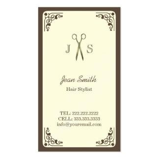 Classy Art Deco Border Hair Stylist Business Card