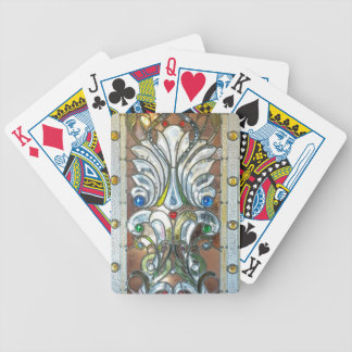 Classy Art Deco Stained Glass Chic Design Bicycle Playing Cards