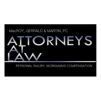 Classy Attorney Business card