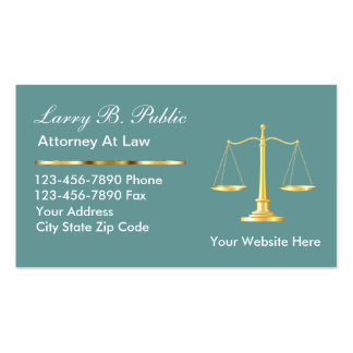 Classy Attorney Business Cards