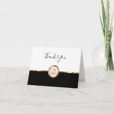 Classy Attorney Customer Thank You Cards