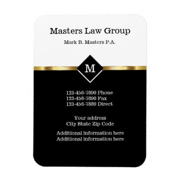 Lawyer Themed Classy Attorney Design Magnet