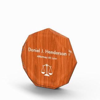Classy Attorney Desk Name Plates Award